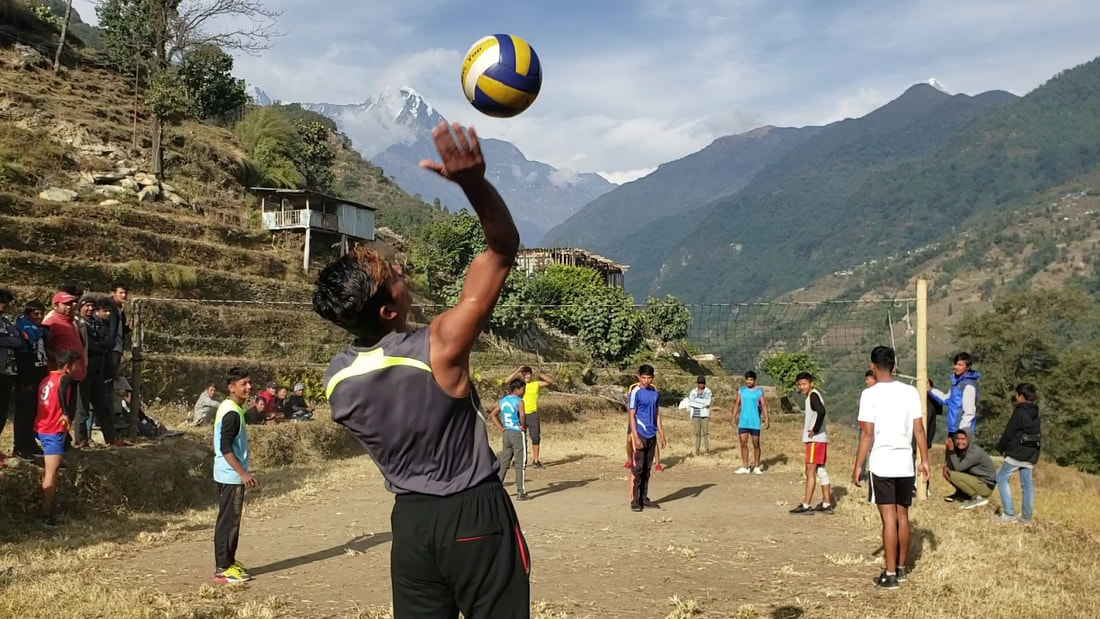 Life In Nepal - Volleyball Serve